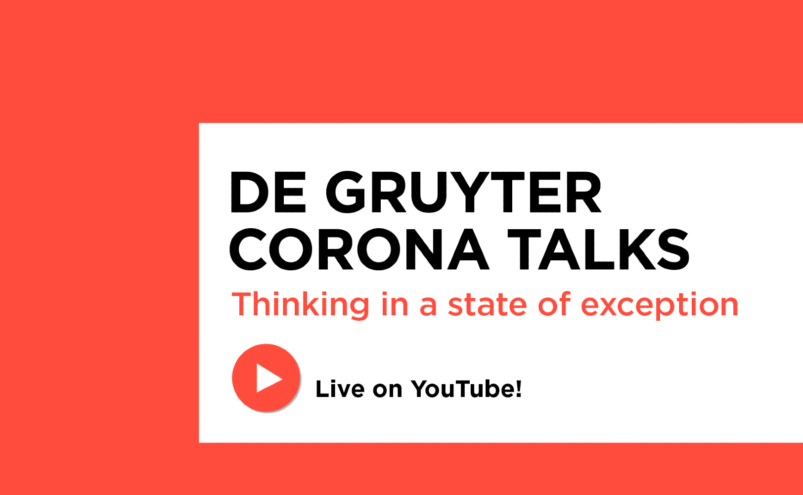 De Gruyter Corona Talks