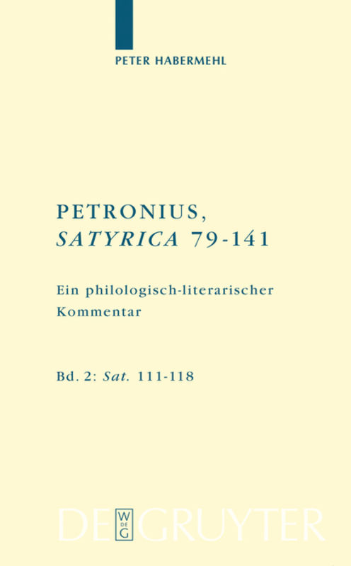 Petronius, Satyrica 79-141