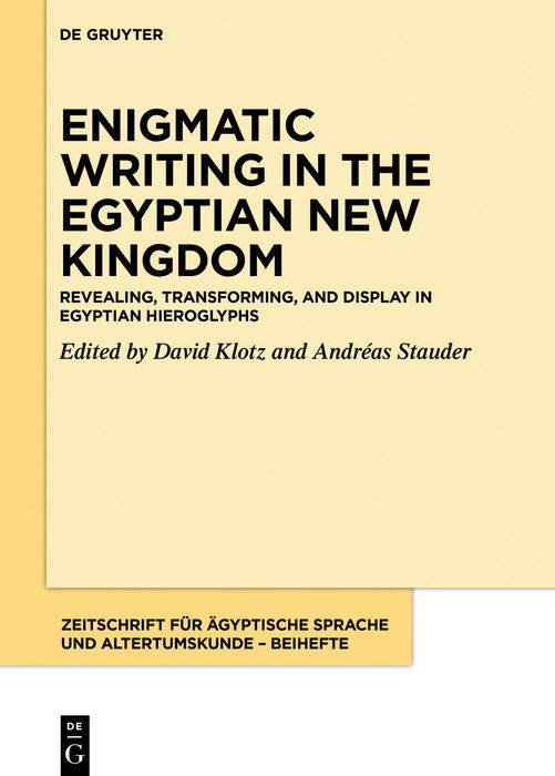Enigmatic Writing in the Egyptian New Kingdom