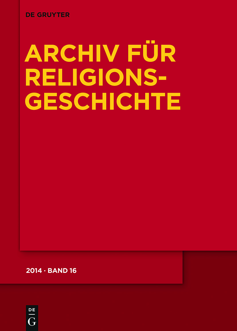Archiv für Religionsgeschichte