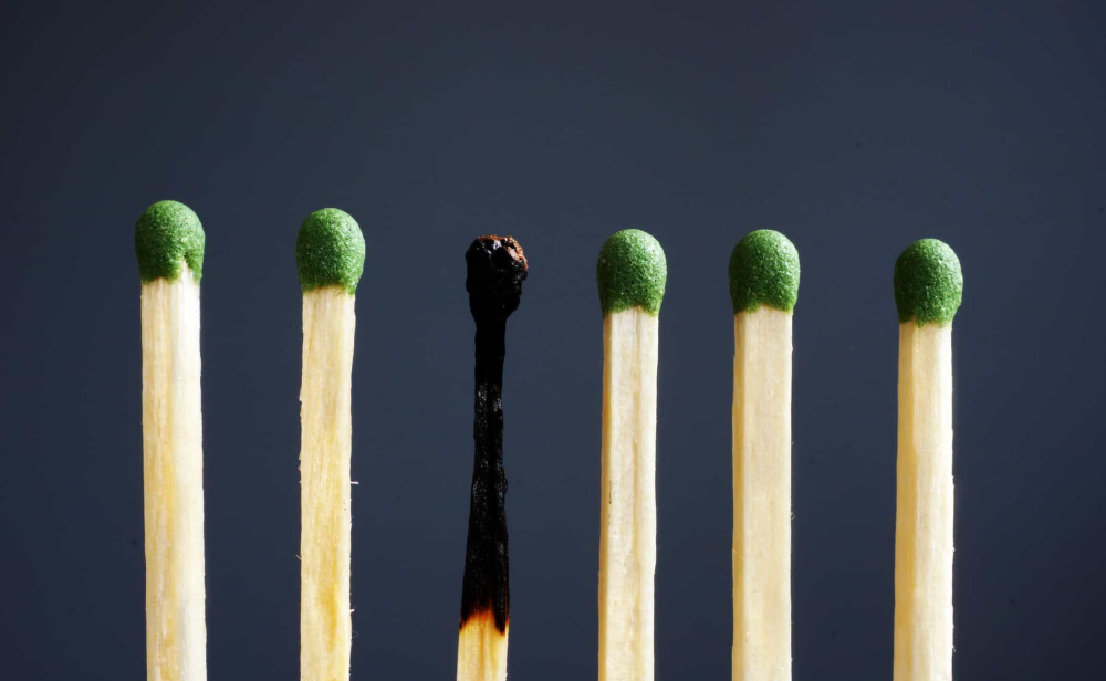 Burnt out matches
